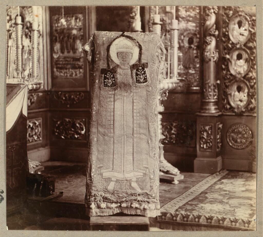 Покров, шитый инокиней Марфой (Марией Нагих).