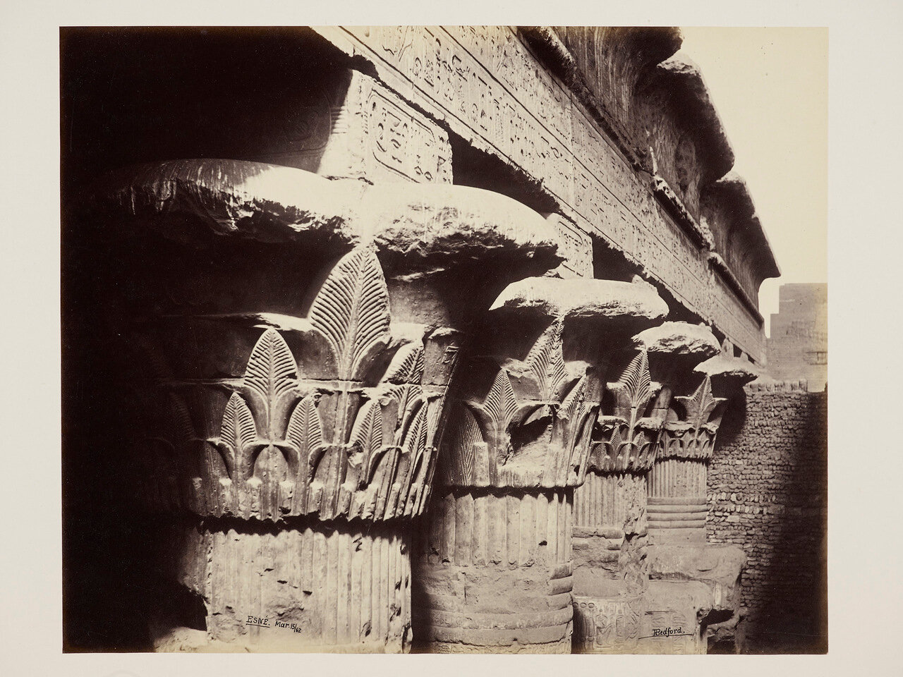 15 марта 1862. Верхняя часть Большого портика Храма Хнума, Эсна