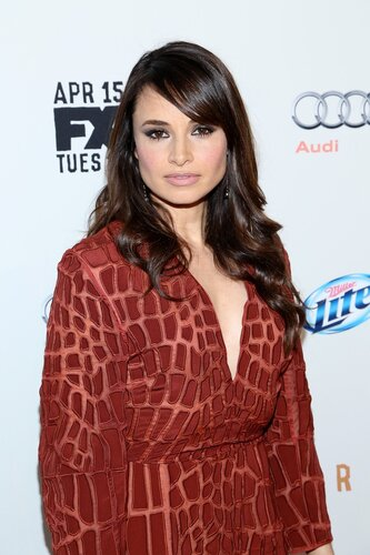 Mia Maestro attends the FX Networks Upfront screening of 'Fargo' at SVA Theater in New York City