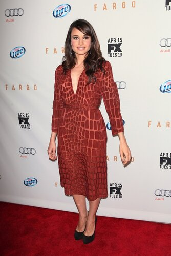 NEW YORK, NY - APRIL 9: Mia Maestro arrives at the FX Networks Upfront Premiere Screening of