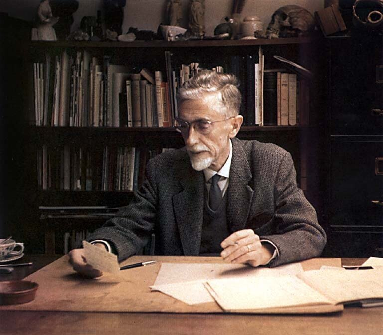 Unknown Photographer, Two Photographs of M.C. Escher in his Office, (1969-1970)