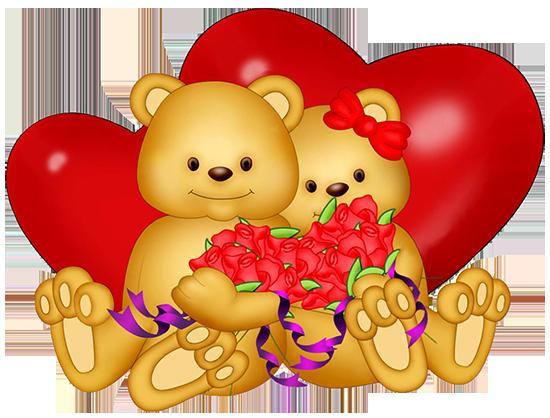 Мишка с сердечком – клипарт ко Дню Святого Валентина