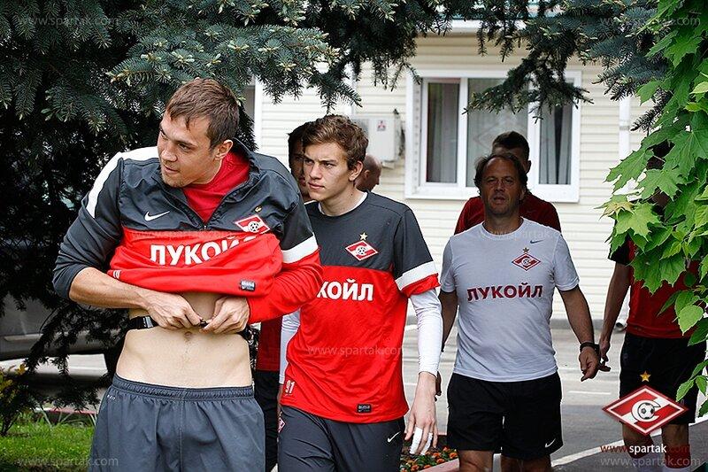 Тренировка «Спартака» в Тарасовке перед матчем с «Аланией» (Фото)