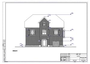 Проект дома с мансардой.