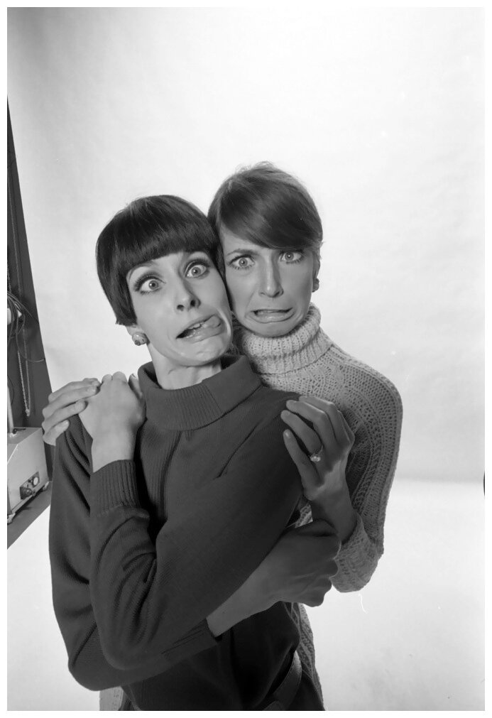 Johanna Shimkus and July Egerie de WR, Studio Willy Rizzo, Paris, 1966. (Photo by Willy Rizzo).jpeg