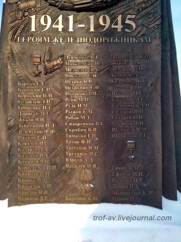 Памятник воинам-железнодорожникам, Музей РЖД, Москва