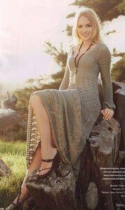 """Грёзы весны - ажурное платье спицами из журнала """"Верена"""