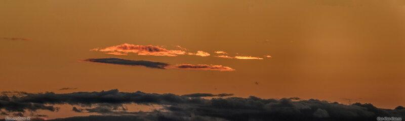 Необычно красивый закат в Ульяновске