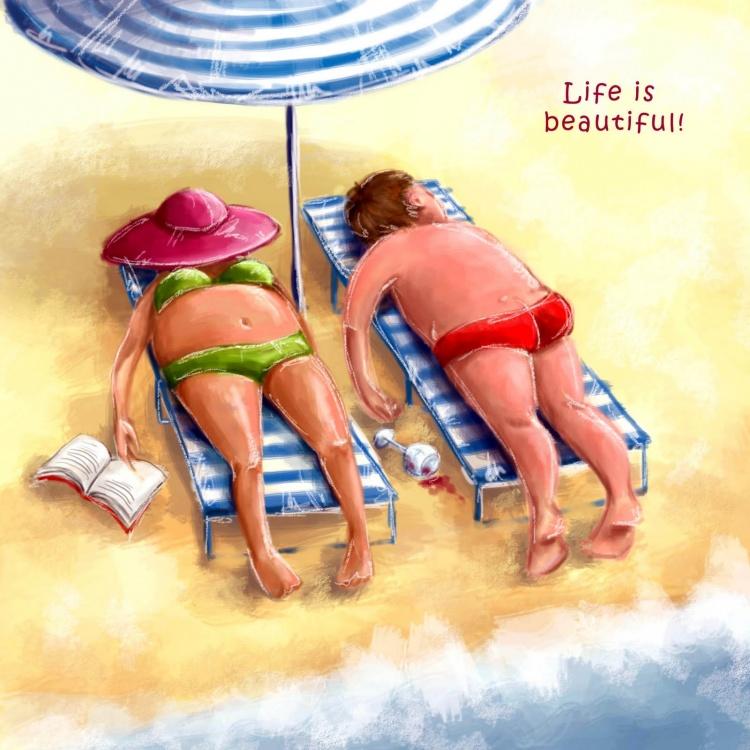 Жизнь прекрасна! Источник иллюстраций: elina-ellis.livejournal.com Также вам понравится: Вся правда