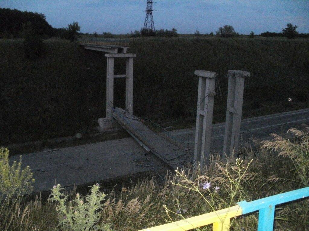 разрушенный мост в станице