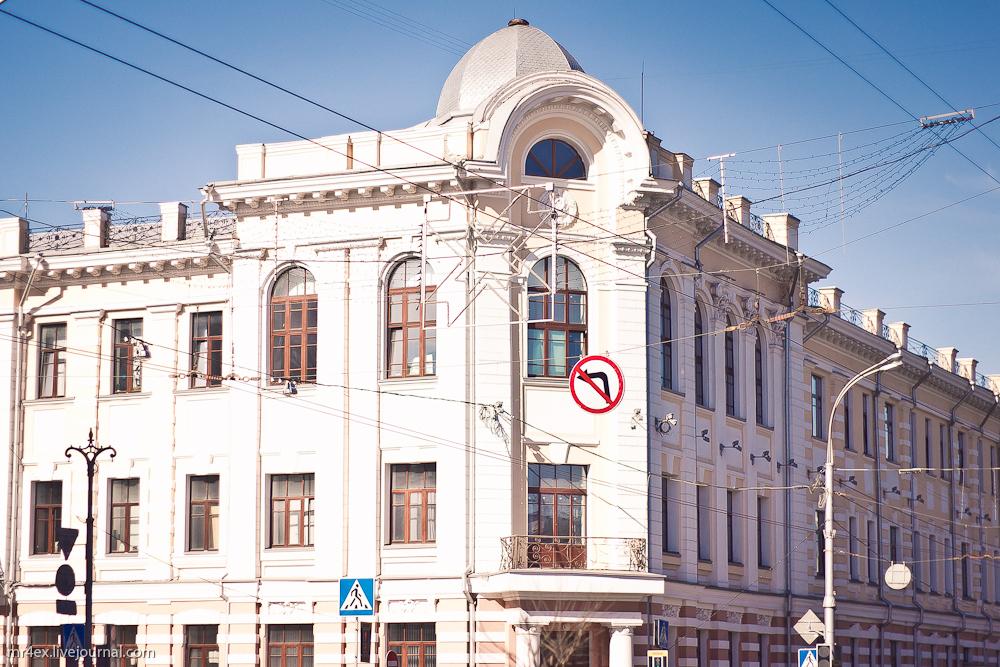 Гомель, застройка Гомеля, улица Советская, Орловский банк, Облисполком Гомеля