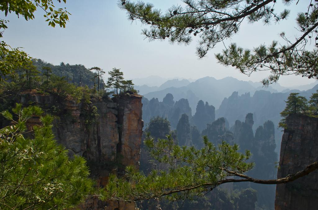Фото 4. Рассказ об отдыхе в Китае. Самостоятельная поездка в национальный парк Чжанцзяцзе. Отчет об экскурсии. Летающие горы планеты Пандора - горы Аватара