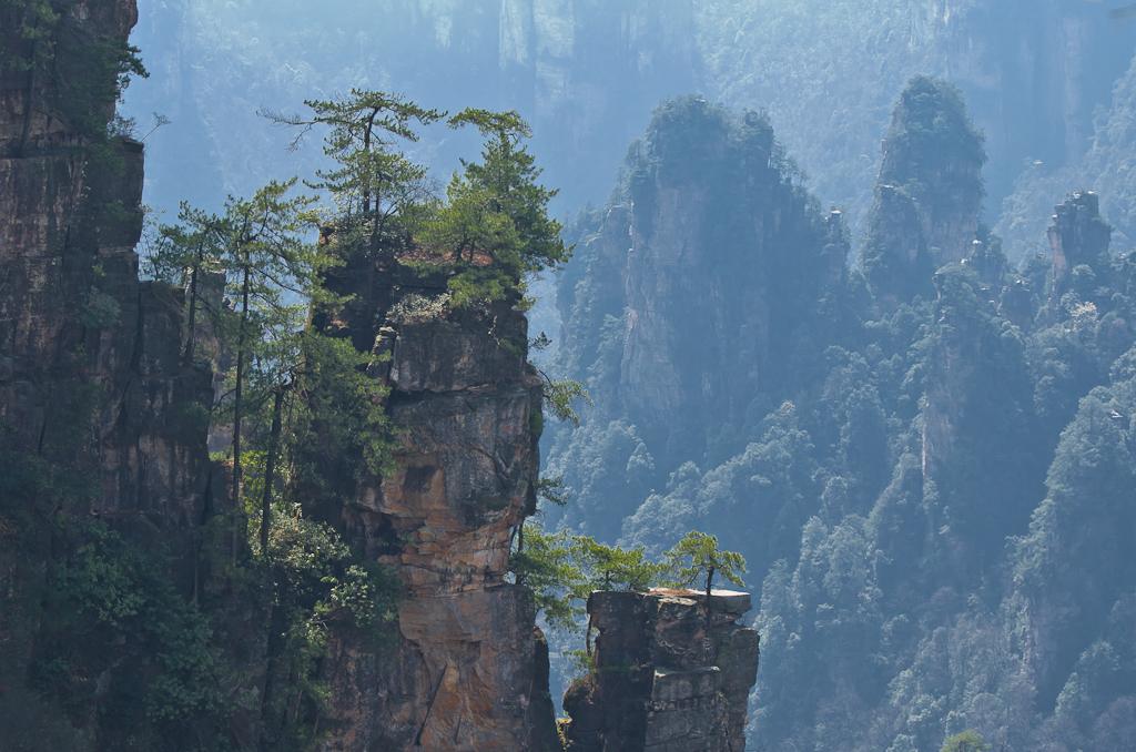 Фото 14. На вершине скалы в парке Чжанцзяцзе. Отзыв об отдыхе в Китае самостоятельно