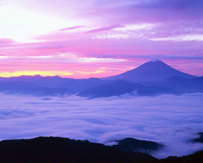 Mount Fuji and Fog in November