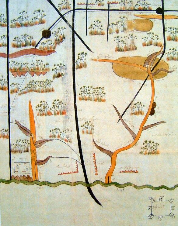 План Ельца и окрестностей 1692 г.