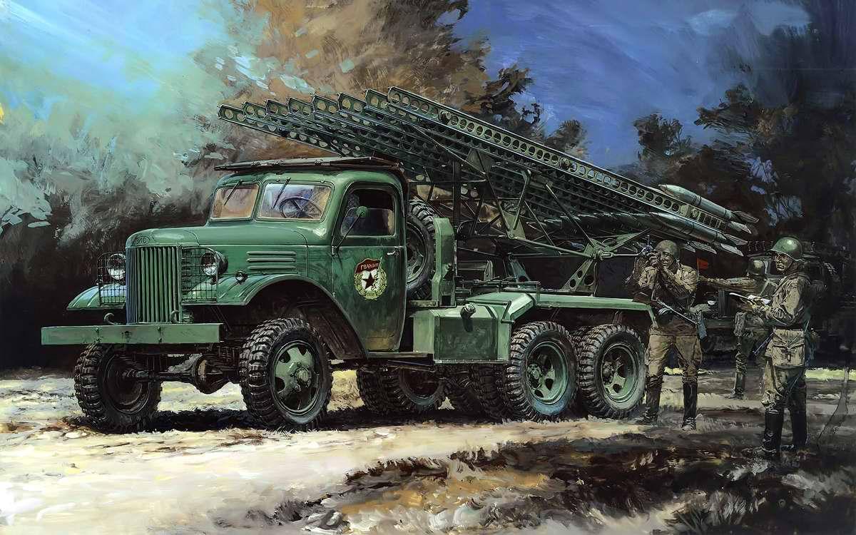 Советская боевая машина реактивной артиллерии БМ-13 Катюша