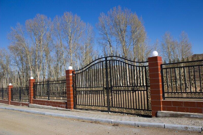 парк в китайском поселке во внутренней монголии