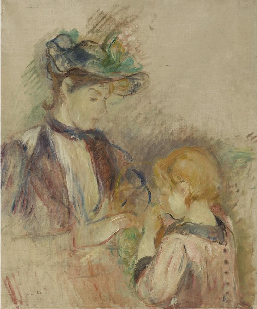 JEUNE FEMME ET ENFANT, AVENUE DU BOIS , 1894