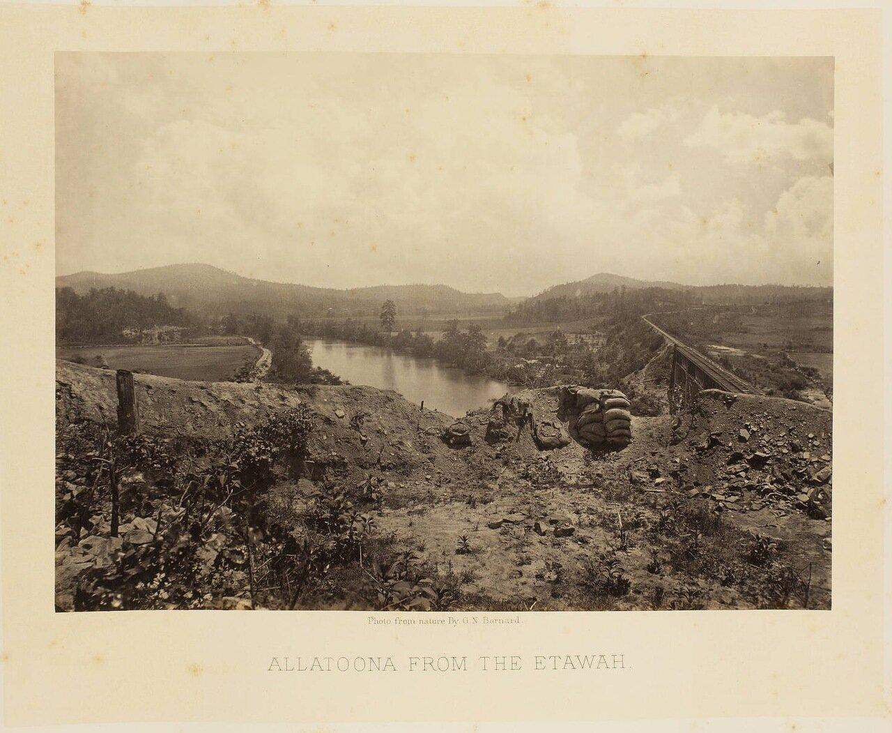 Озеро Аллатуна (Джорджия). Вид из Этаваха