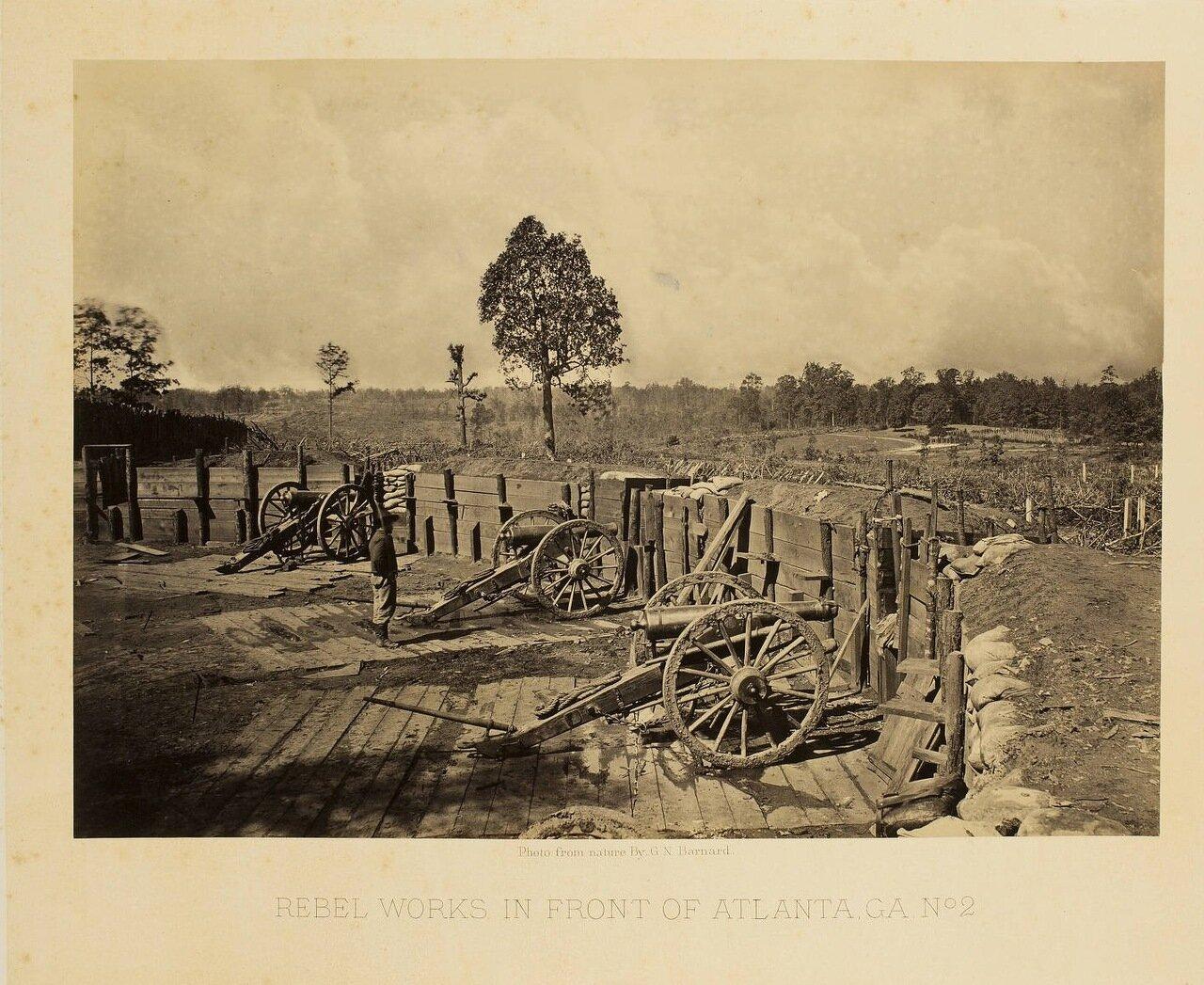 Укрепления южан возле Атланты. №2