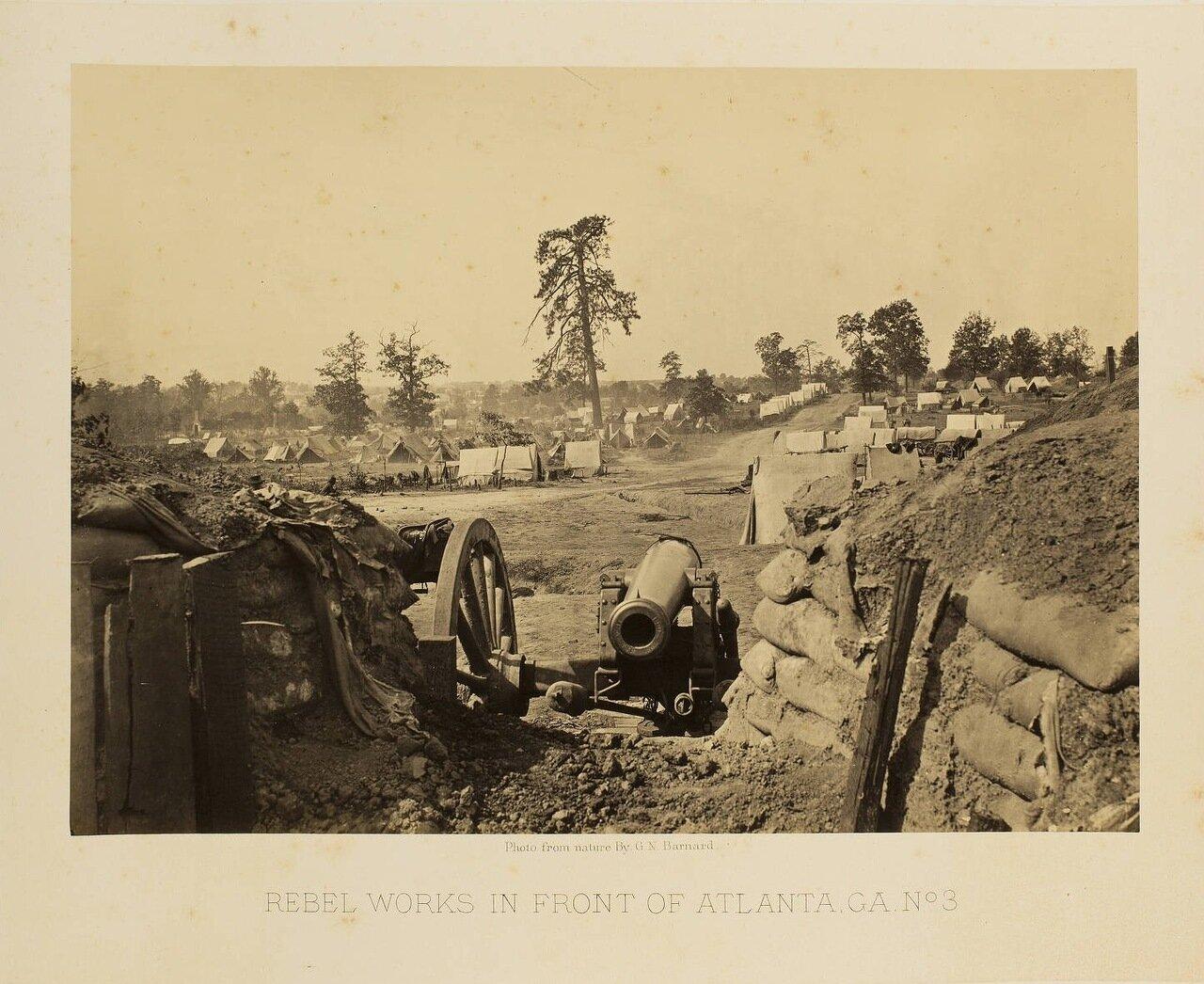 Укрепления южан возле Атланты. №3