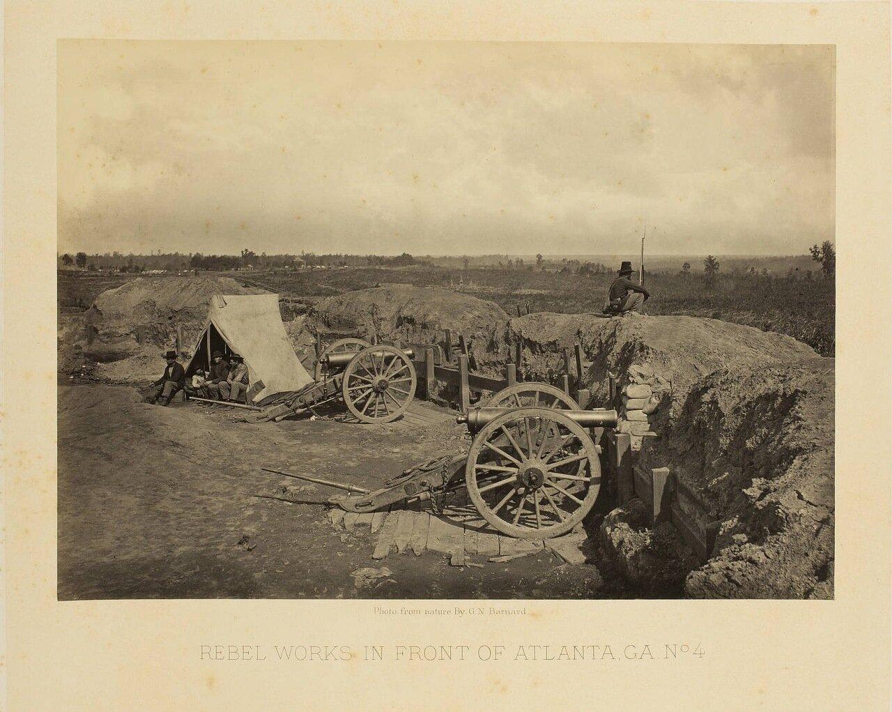 Укрепления южан возле Атланты. №4
