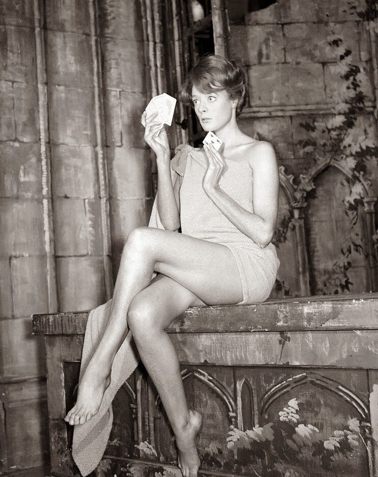 Maggie Smith November 1960  she plays strip poker
