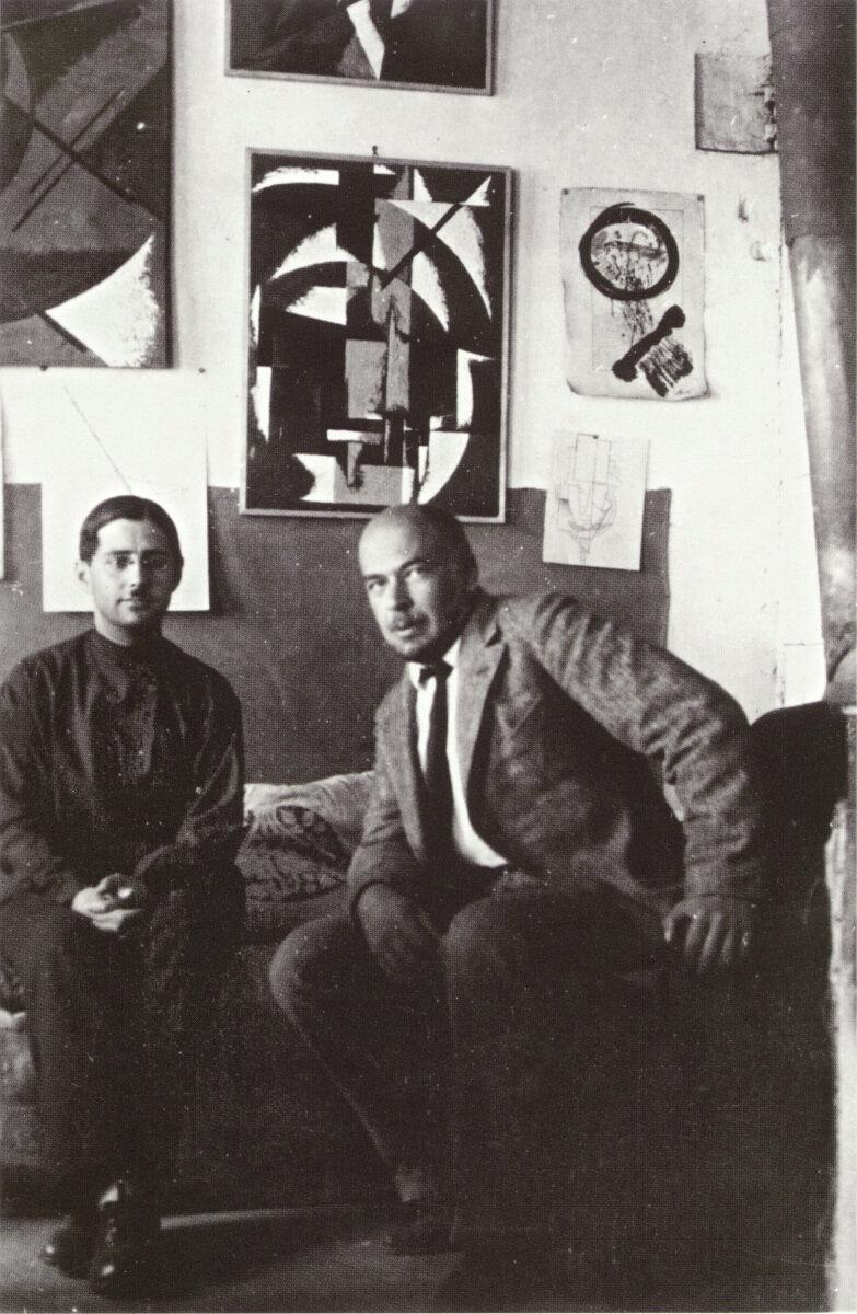 1924. Александр Веснин с братом Любови Поповой