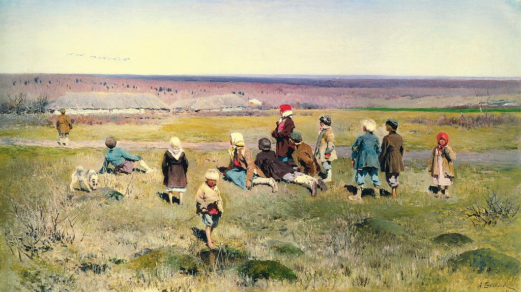 Степанов. Журавли летят. 1891 г..jpg