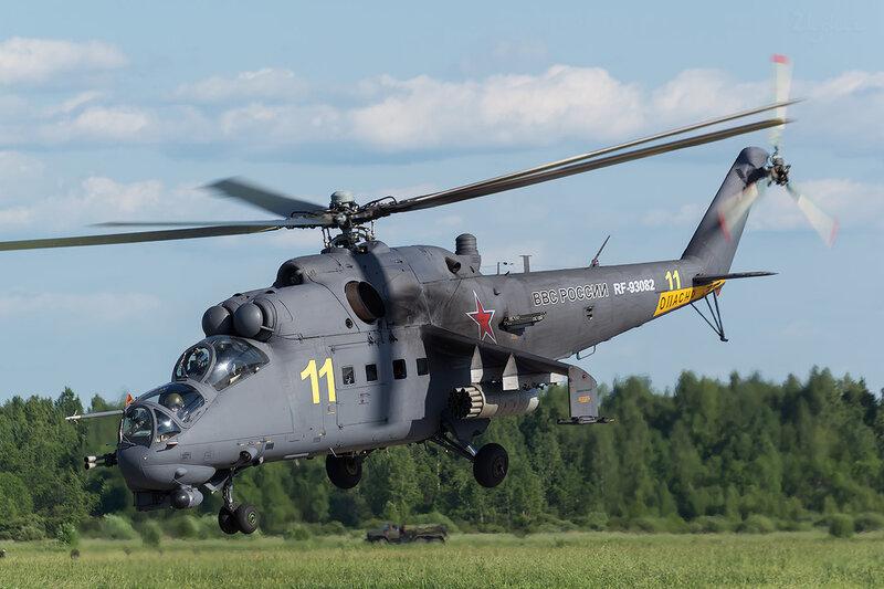 Миль Ми-24П (RF-93082 / 11 жёлтый) D801091