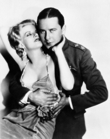 Jean Harlow and Ben Lyon in <Hell's Angels>