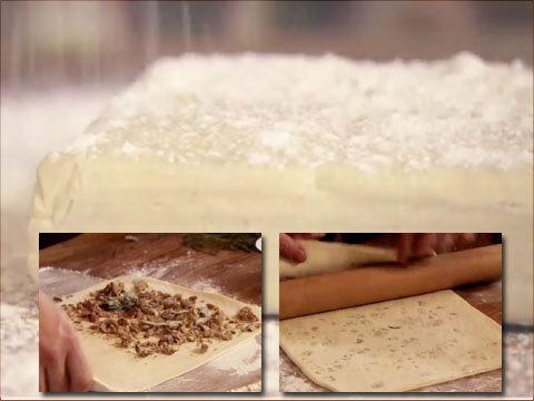 Тесто для пирога - с каштанами и шалфеем