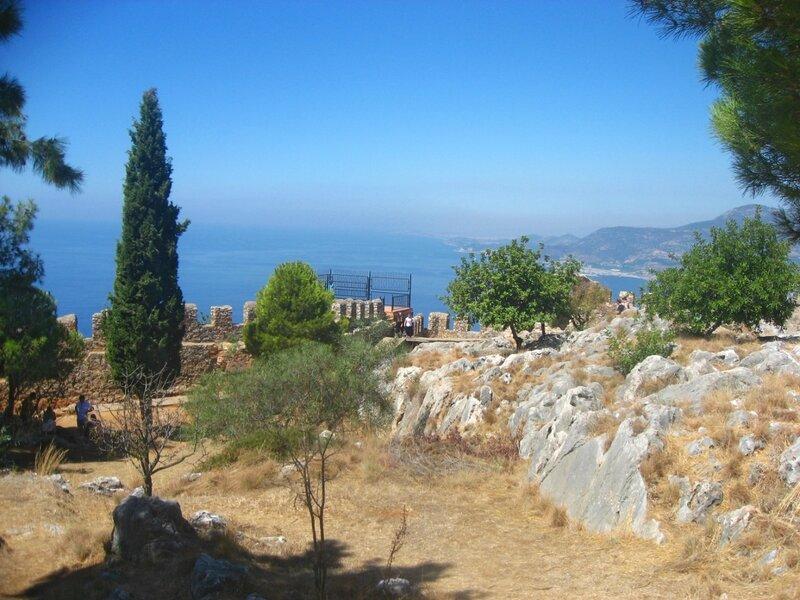 Ичкале, крепость Аланьи, Турция, крепость на горе,