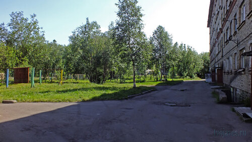 Фото города Инта №5170  Двор (восточная сторона дома) Гагарина 11 16.07.2013_12:29