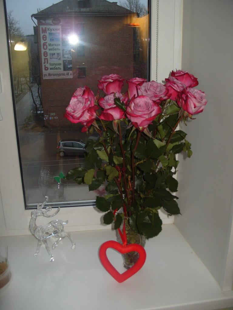 Букет роз на День св. Валентина
