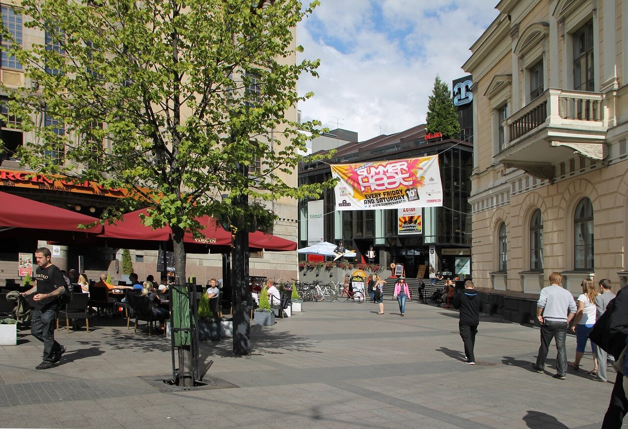 Helsinki's business and shopping district of Kluuvi