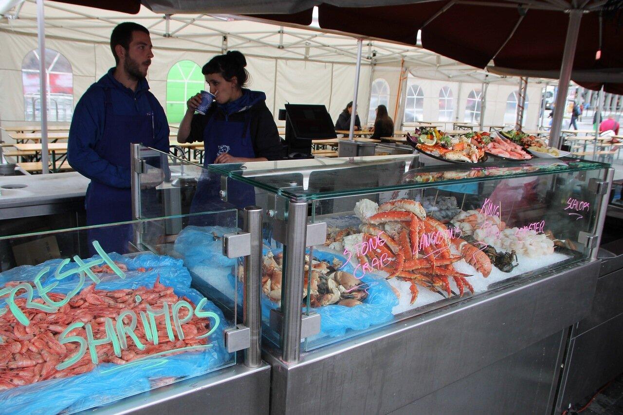 Bergen,  the seafood market. Берген, рынок морепродуктов