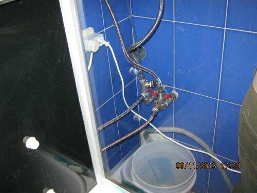 Пришла очередь замены наливного шланга для стиральной машины
