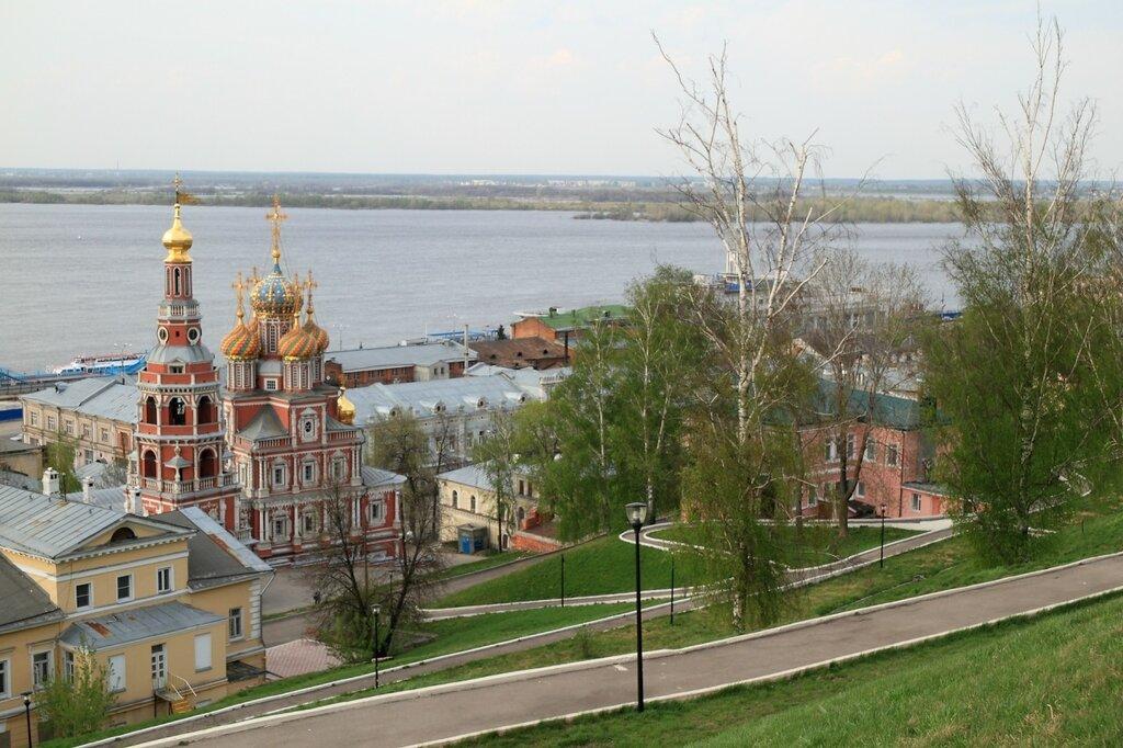 Строгановская церковь и Волжский откос, Нижний Новгород