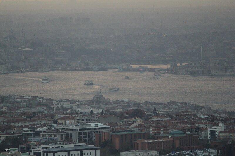 Обзорная площадка в Чалымджа - Ночной Стамбул