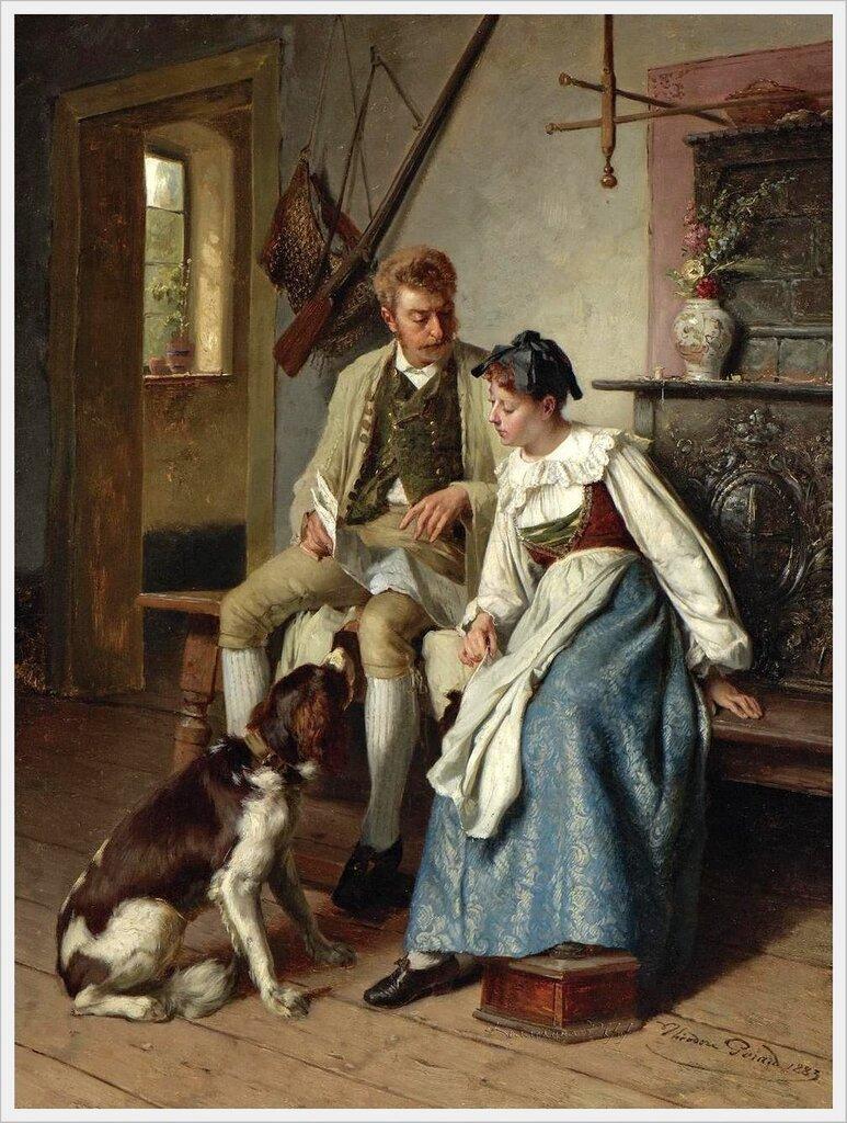 Theodore Gerard (Belgian, 1829-1895) «An Interesting Letter» 1883