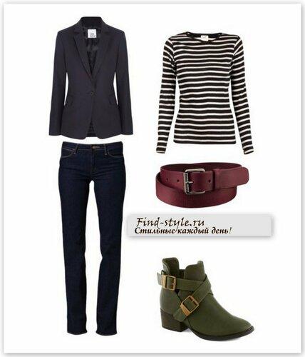 черный жакет, черный женский жакет, женские классические жакеты, джинсы с чем носить фото, пиджак с чем носить фото, женский лонгслив, тельняшка, полоска, цветной ремень