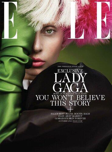 Lady Gaga / Леди Гага в журнале Elle US, октябрь 2013 / фотограф Ruth Hogben