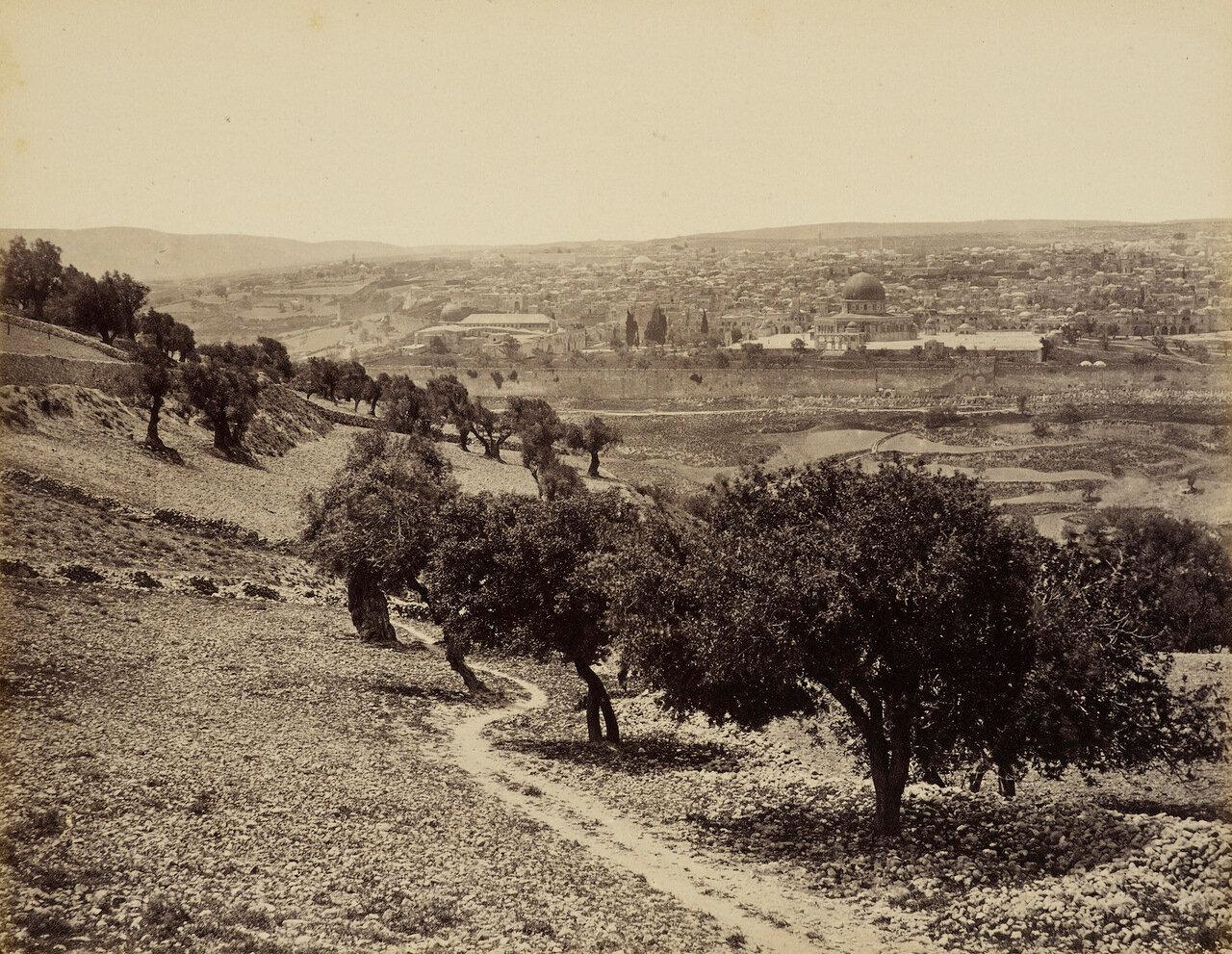 Март-апрель 1862. Иерусалим с Масличной горы