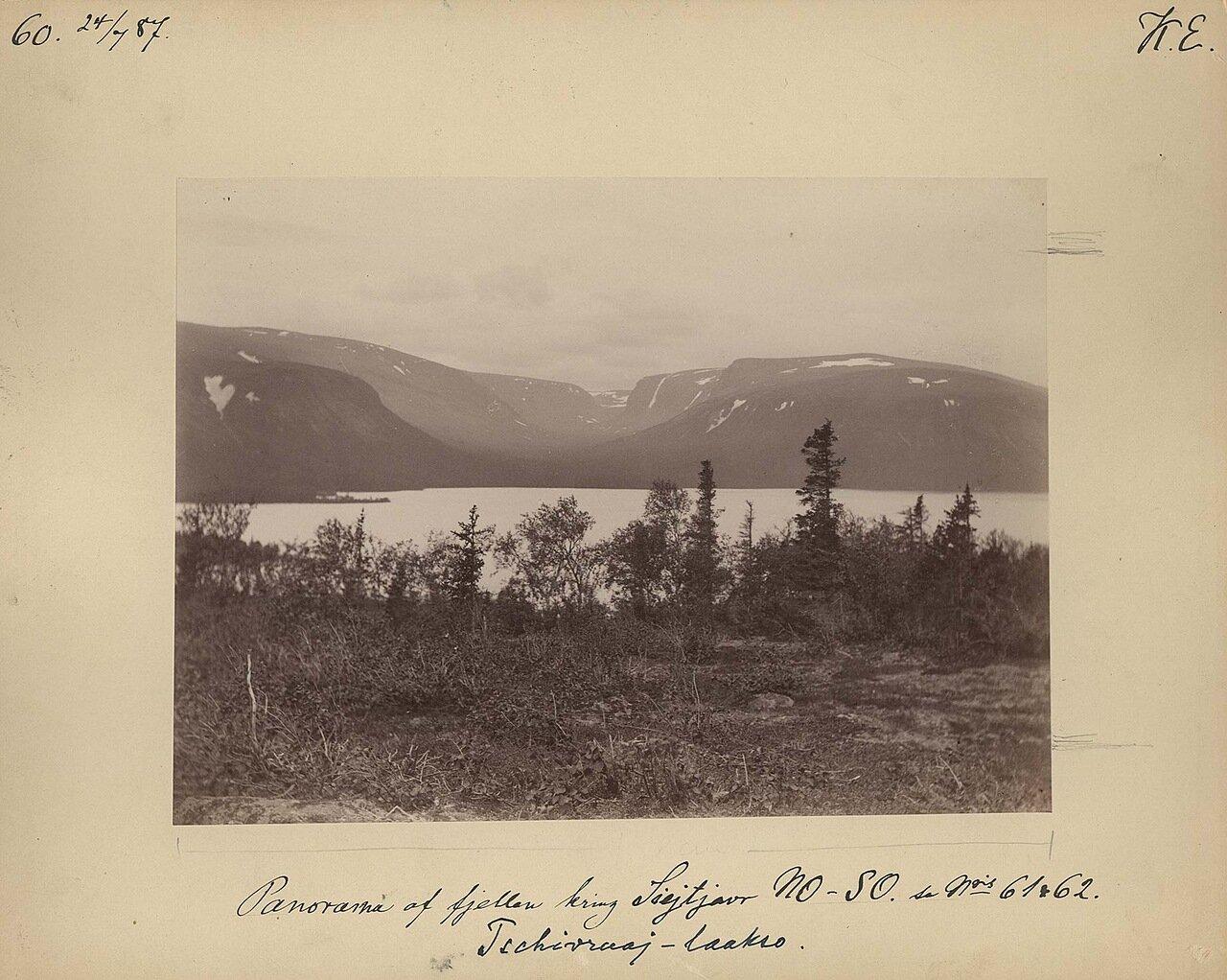24.7.1887. Панорама озера Сейдъявр и окружающей долины