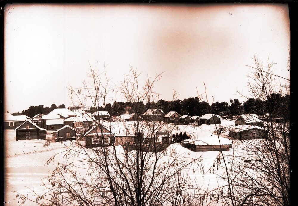1913. Село Ларьяк.  Село зимой