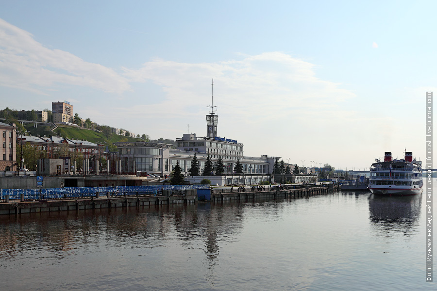 здание речного вокзала Нижнего Новгорода