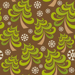 Vector seamless pattern with christmas tree
