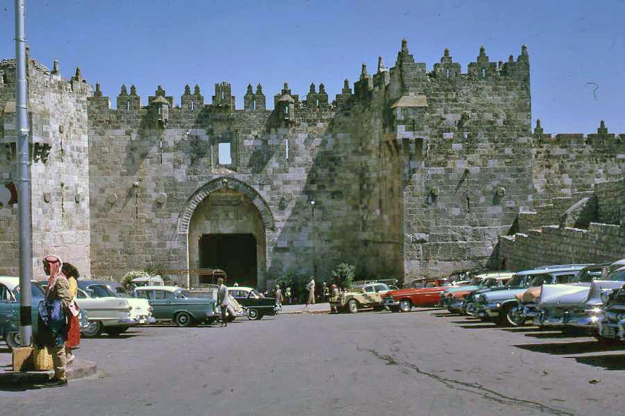 1961 Israel Jerusalem - Jordan Damascus Gate.jpg