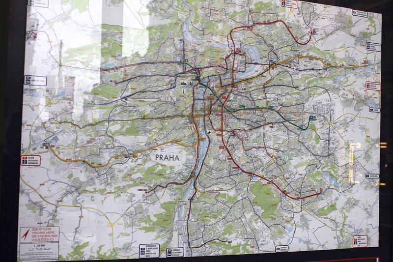 Вот, например, схема Праги. На
